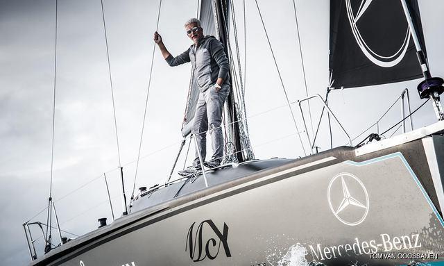Nuvolari and Lenard co-founder Dan Lenard on board his yacht SCIA