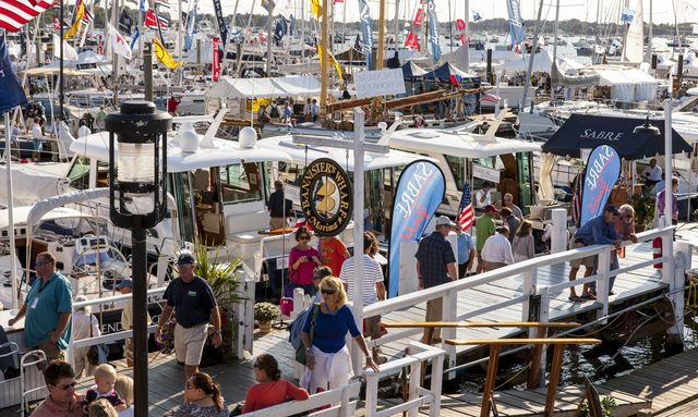 Yachts at the Newport Boat Show