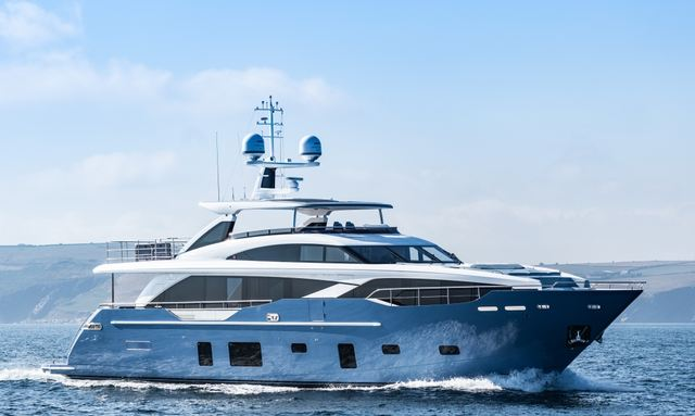 Superyacht HALLELUJAH underway