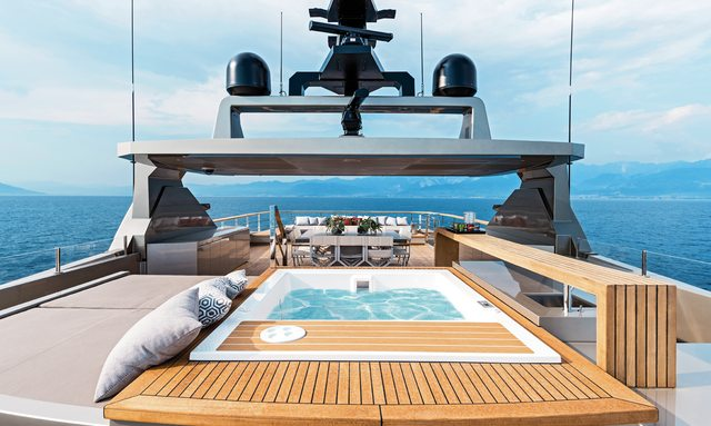 pool on board luxury yacht giraud's sundeck