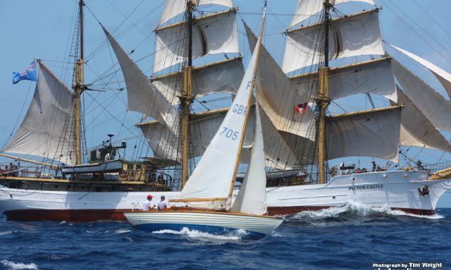 Yachts at Antigua Classic Yacht Regatta