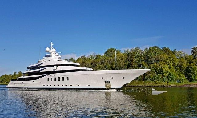 Lurssen Superyacht Madsummer going out on sea trials