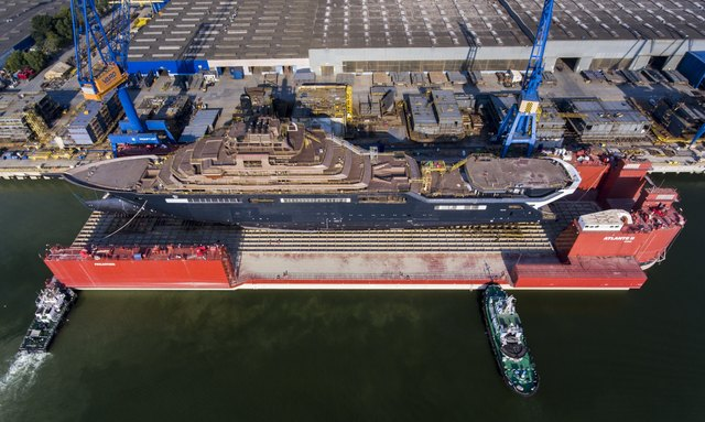 World's largest yacht REV due to launch today