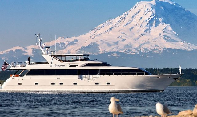 Luxury yacht BLACKWOOD on the water in Alaska