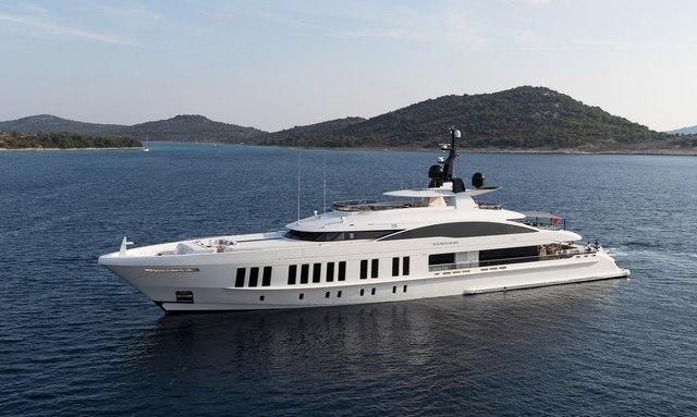 Superyacht SAMURAI at anchor