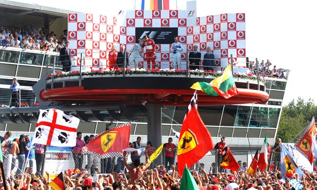 The winners Podium at Monza