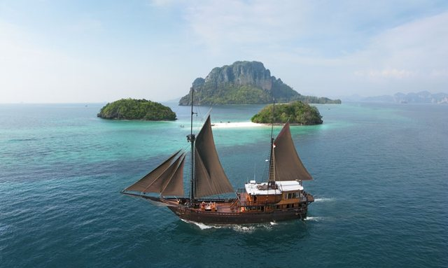 Charter yacht El Aleph cruising the beautiful Indonesian archipelago