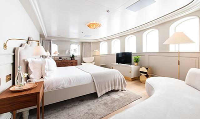 Spacious master cabin on Shemara