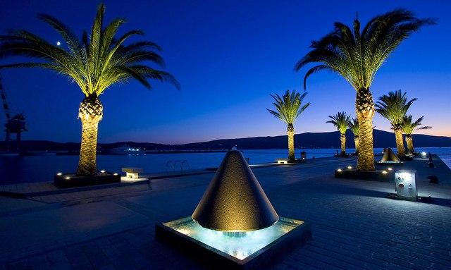 Montenegro Port at night