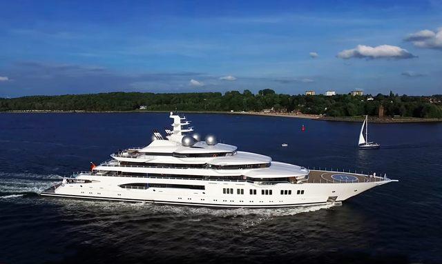 Lurssen superyacht AMADEA underway