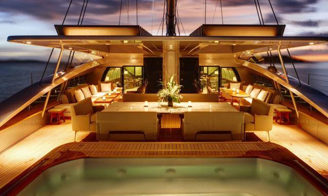 Aft deck entertainment on Vertigo