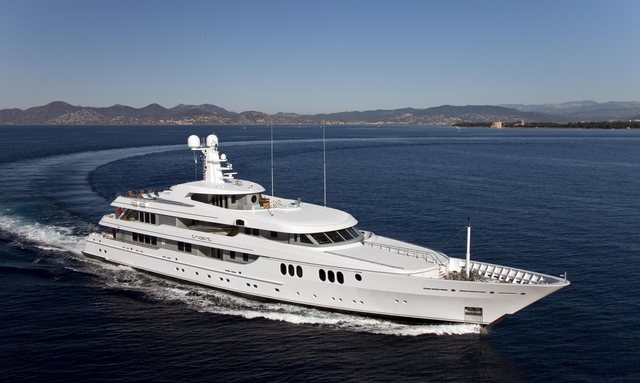 Elegant 65m M/Y TRIDENT finally joins the charter fleet