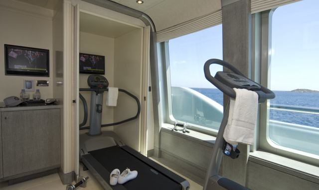 Gym overlooking the ocean on Slipstream