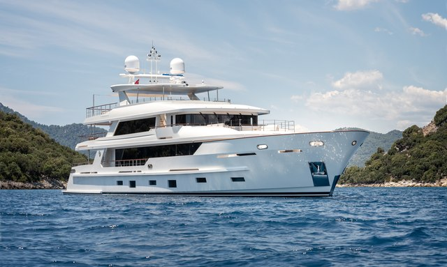 Brand new 43m motor yacht SUNRISE now available for Turkey charter