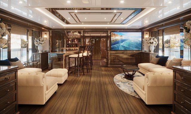 Opulent interior styling on Lady Lena