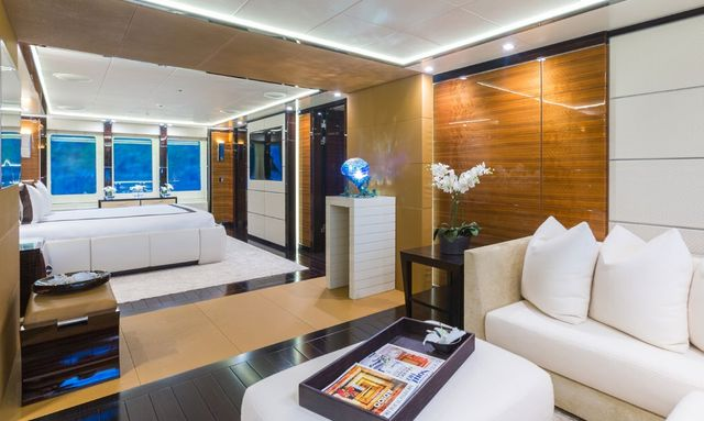 Elegant owner's suite on Party Girl