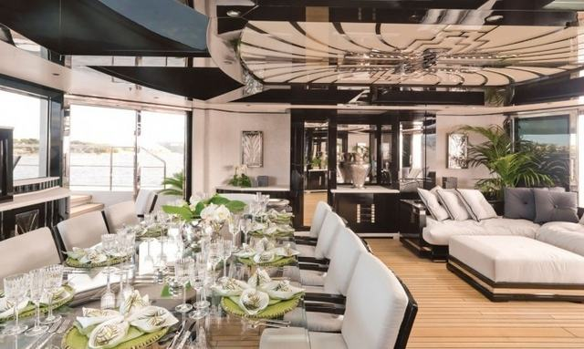 Transitional dining on Silver Angel