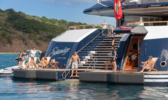Which yacht stars in the TV series 'Succession'?