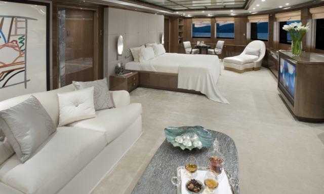 Impressive master cabin facilities on Alfa Nero