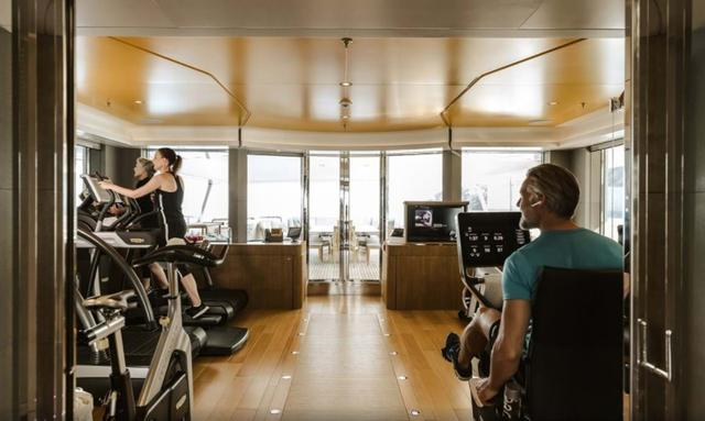 Main deck wellness retreat on Lady E