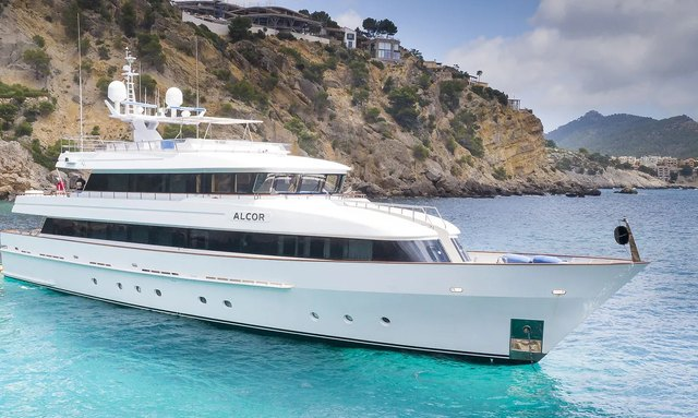 36m superyacht ALCOR now available to charter in the Balearic Islands