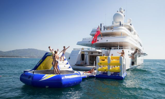 Exceptional water toy garage on Titania