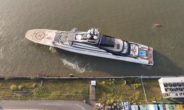 VIDEO: Lurssen's 142m megayacht NORD (Project Opus) floats out again