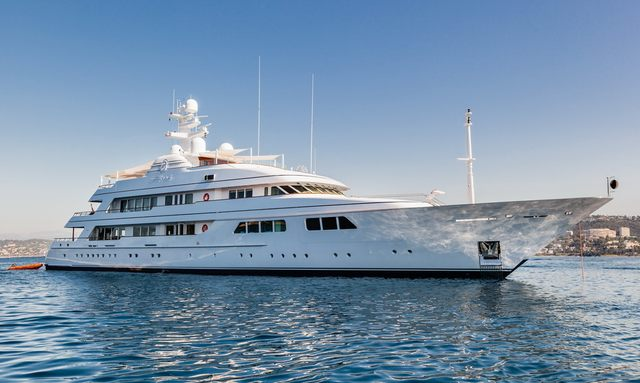 Iconic superyacht FLAG offers last availability for Mediterranean yacht charters