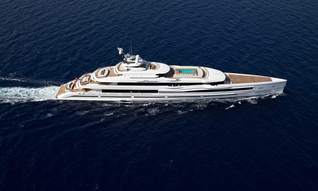 Superyacht LANA on sea