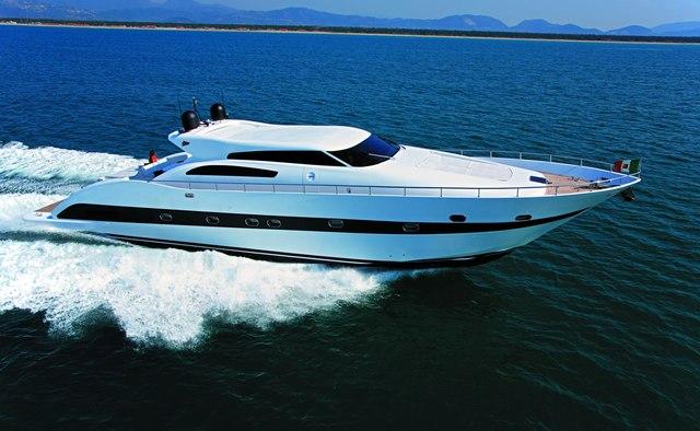 Ruby yacht charter Tecnomar Motor Yacht