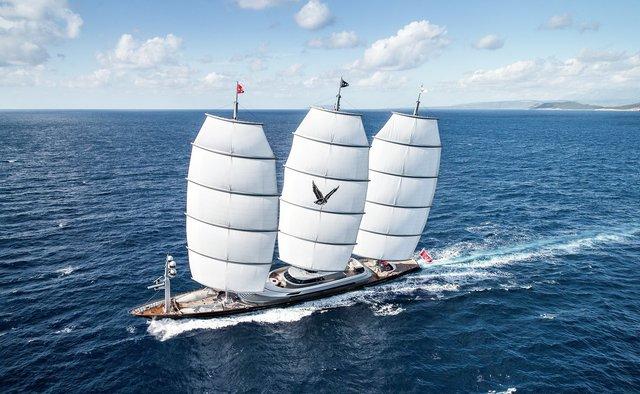 Maltese Falcon yacht charter Perini Navi Sail Yacht
