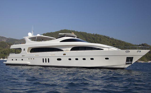 Joan's Beach yacht charter Mengi-Yay Motor Yacht