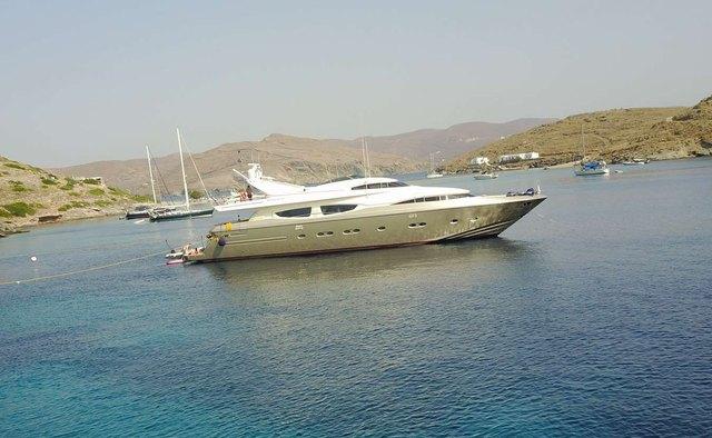 Zambezi charter yacht exterior designed by Carlo Galeazzi