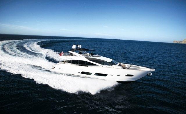 Ebra yacht charter Sunseeker Motor Yacht