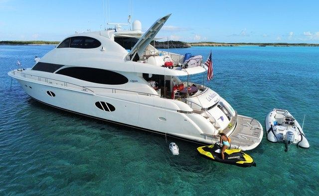 La Balsita yacht charter Lazzara Motor Yacht