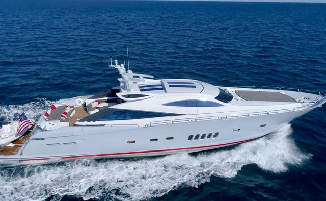 Privee charter yacht exterior designed by Don Shead Yacht Design