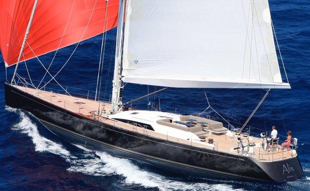 Alix yacht charter Nautor's Swan Sail Yacht