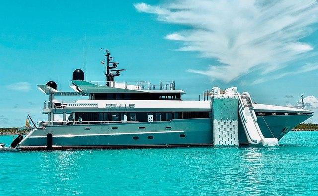 Oculus charter yacht interior designed by Sam Sorgiovanni