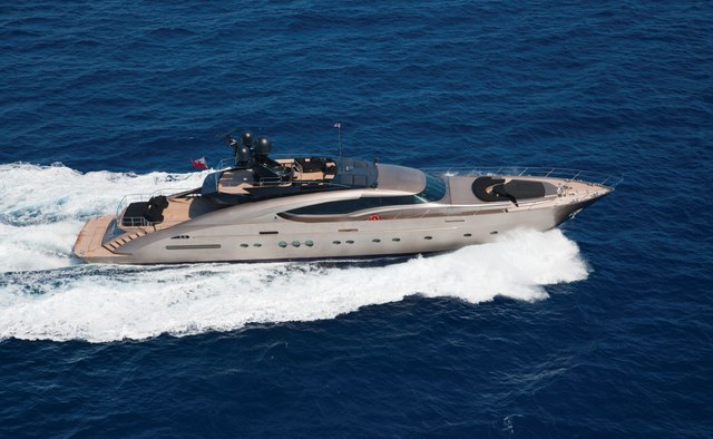 Griffin charter yacht exterior designed by Nuvolari Lenard