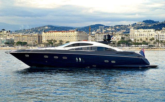 Low Profile yacht charter Sunseeker Motor Yacht