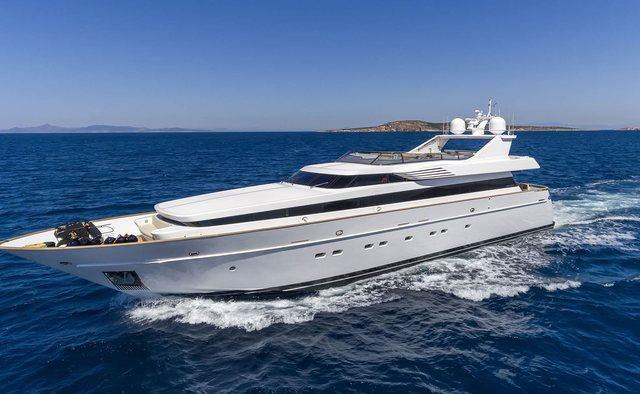 Alexia AV charter yacht exterior designed by Cantieri di Pisa