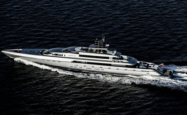 Silver Fast charter yacht exterior designed by Espen Oeino