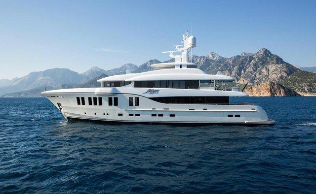 Ruya charter yacht interior designed by Sam Sorgiovanni