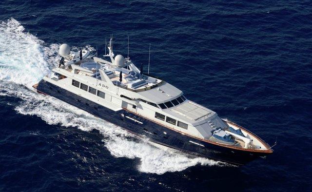 DOA charter yacht exterior designed by Broward