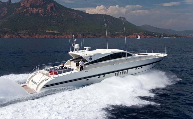 Romachris II yacht charter Leopard Motor Yacht
