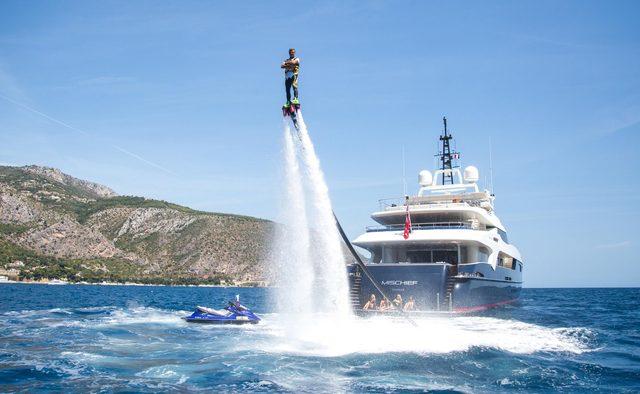 Mischief yacht charter Baglietto Motor Yacht