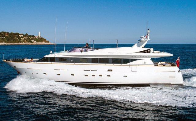 Talila charter yacht interior designed by Aldo Cichero