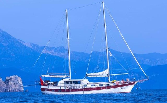 Azura yacht charter Custom Sail Yacht
