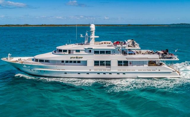 Starship charter yacht interior designed by Procasa,De Merwede & Claudette Bonville