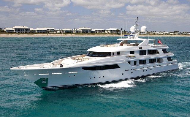 Gigi charter yacht interior designed by Donald Starkey